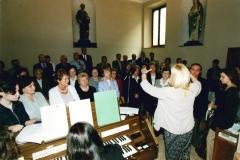 Durante una santa messa domenicale.