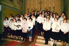 Esibizione del Coro verso la fine deglia nni Ottanta