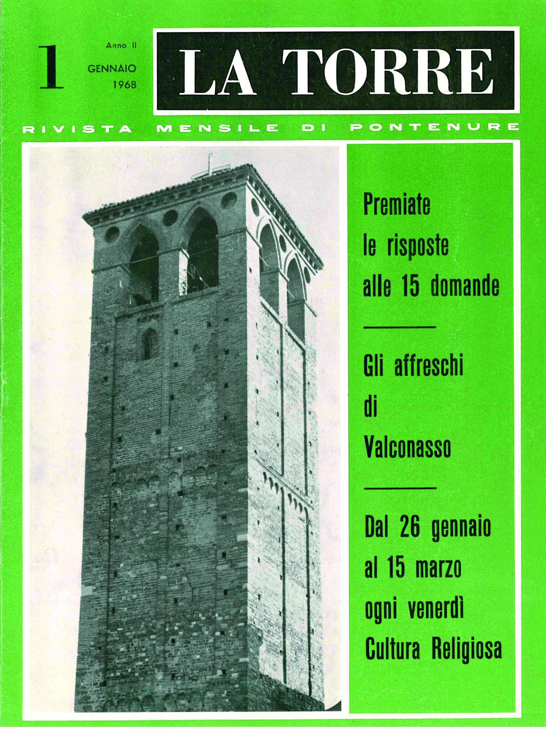 copertina la torre 1968