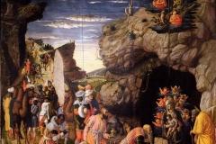 Andrea Mantegna (1421 - 1506), Adorazione dei Magi, Galleria degli Uffizi, Firenze.