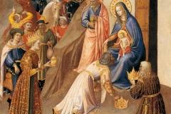 Beato Angelico (Vicchio, 1395 circa - 1455), Adorazione dei Magi, Abegg-Stiftung, Berna.