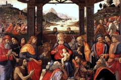 Domenico Ghirlandaio (1448-1494), Adorazione dei Magi degli Innocenti, Galleria dello Spedale degli Innocenti, Firenze.