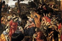Filippino Lippi (1457 -1504), Adorazione dei Magi, Galleria degli Uffizi, Firenze.