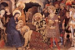 Gentile da Fabriano (1370 circa - 1427), Adorazione dei Magi, Galleria degli Uffizi, Firenze.