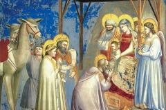 Giotto (1267 circa - 1337), Adorazione dei magi, Cappella degli Scrovegni, Padova.