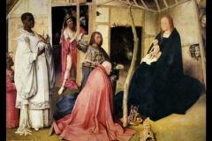 Hieronymus Bosch (1453 -1516), Trittico dell'Adorazione dei magi, Museo del Prado, Madrid.
