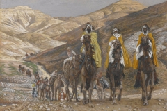 James Tissot (1836 - 1902), Il viaggio dei Magi, Brooklyn Museum, New York City.