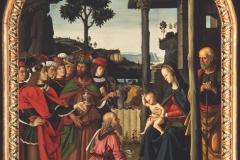 Pietro Perugino (1448 circa - 1523), Adorazione dei Magi, Galleria Nazionale, Perugia.