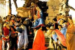 Sandro Botticelli, Adorazione dei magi, Galleria degli Uffizi, Firenze.