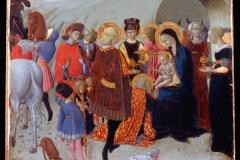 """Stefano di Giovanni, detto il """"Sassetta"""" (1400 circa - 1450), Adorazione dei Magi, Collezione del Monte dei Paschi, Siena."""