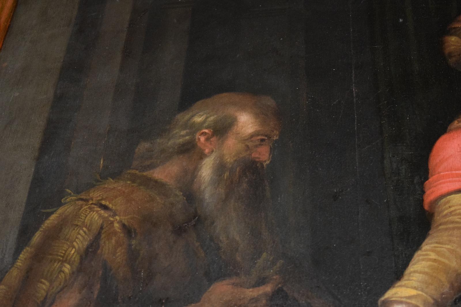 Presentazione dipinto Madonna in trono con santi (20)