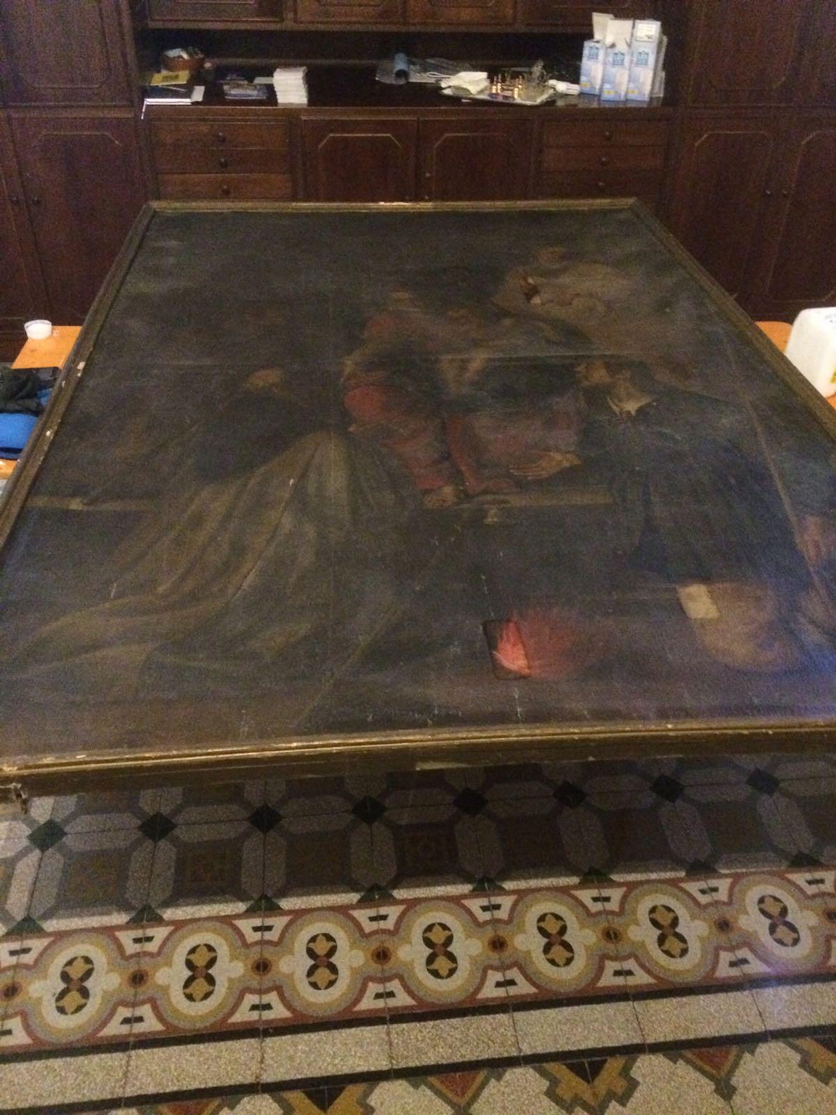 Dipinto Madonna con santi (1)