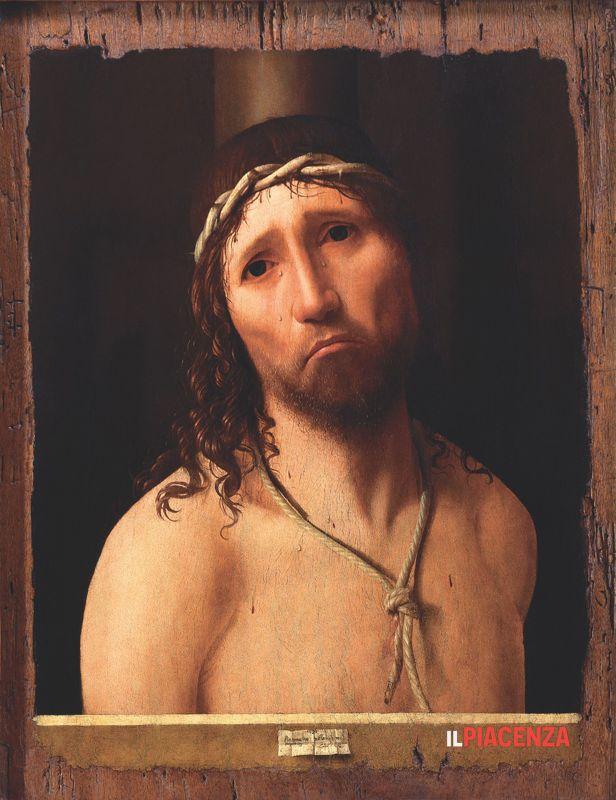 La riproduzione dell'Ecce Homo di Antonello da Messina che è stato esposto nella nostra chiesa durante tutto il periodo quaresimale.