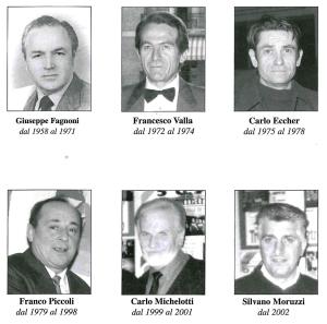Tutti i presidenti che nel corso degli anni si sono succeduti alla guida della Bocciofila.