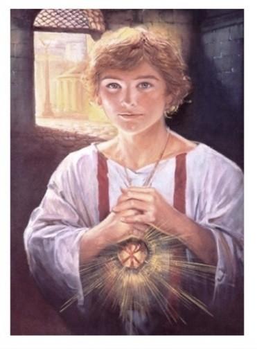 San Tarcisio, il santo patrono dei ministranti.