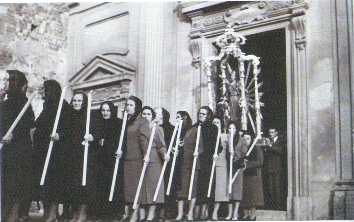 Processione della Madonna del Rosario degli Anni Cinquanta.