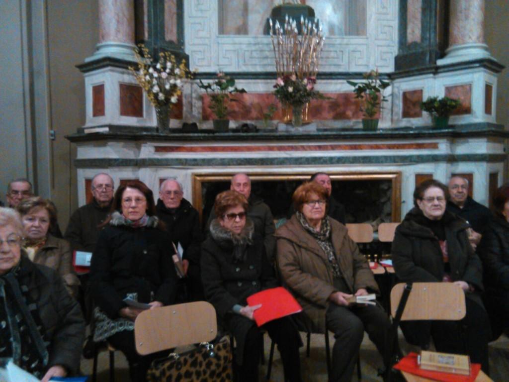 """Un'altra immagine dei cantori del Coro """"La Torre"""" che hanno garantito maestria l'accompagnamento musicale della Messa."""