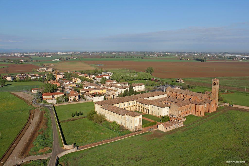 Veduta panoramica dell'antica abbazia.