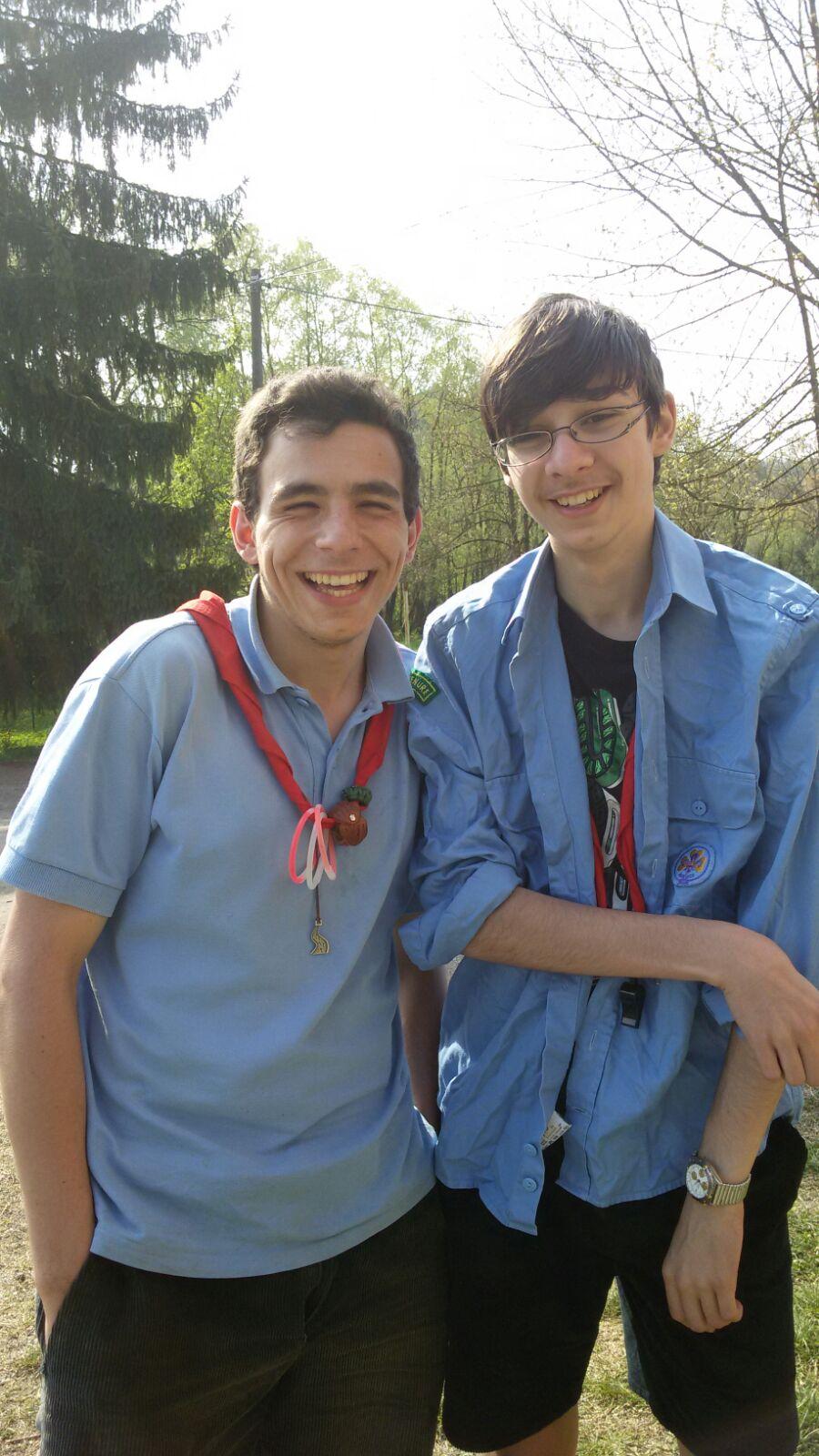 I nostri due giovani e sorridenti portacolori alla Challenge di zona di quest'anno, Nicola e Luca.
