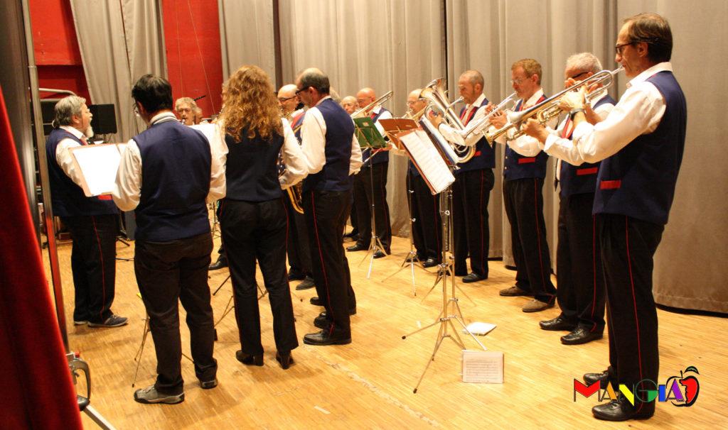 I musicisti della banda Del Val-Pegorini.